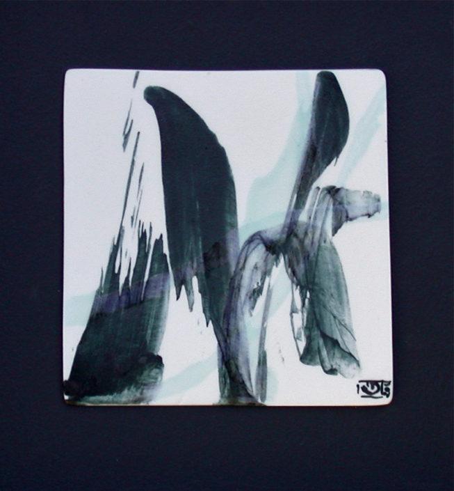 Tableaux porcelaine, création Elsa Dinerstein, objet d'art, pièce unique, peint main, creative, galerie d'art, pictural, caligraphie