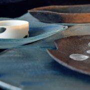 terre et verre, création atelier claire babet, elsa dinerstein, verre thermoformé, artisanat d'art, objets d'exception, métiers du luxe, objet d'art, art and craft