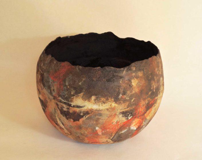 gres singulier, creation Elsa Dinerstein, pièce unique, objet d'art, ceramique contemporaine, décoration haut de gamme, luxe, objet d'exeption