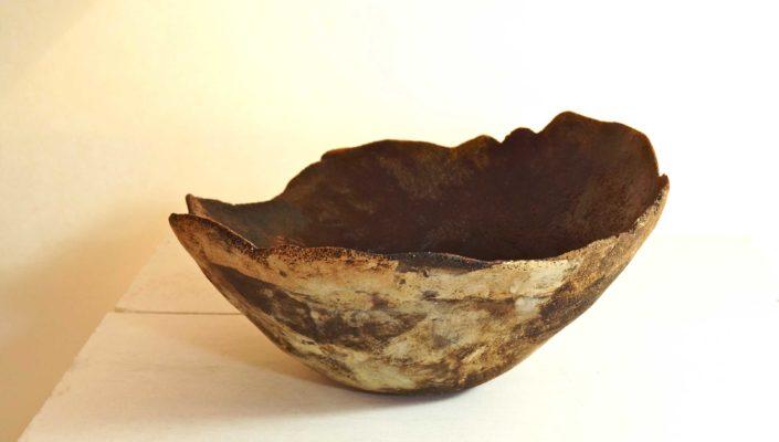 gres singuliers, creation Elsa Dinerstein, objet d'art, pièce unique, ceramique contemporaine, terres mêlées