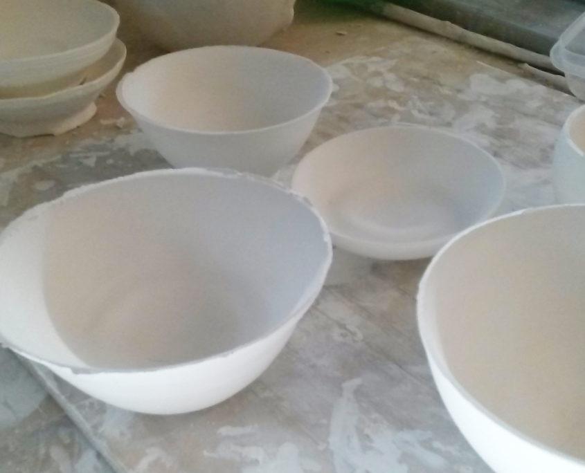 savoir-faire,atelier elsa dinerstein, pièce crue, porcelaine, bols, slow-design, hand-made