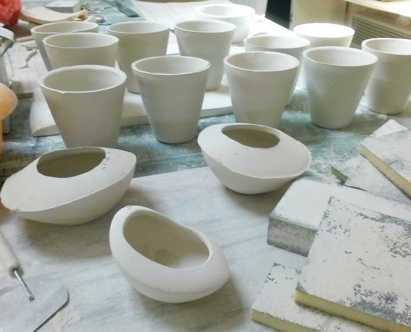 savoir-faire, atelier elsa dinerstein, porcelaine, finitions, fait-main, hand-made, madein france, makers